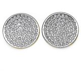 Micro Pave Setting 2.90 Gm American Diamond Gold Plated Earrings Aje019