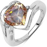 5.85ctw Champagne And White Cubic Zircon .925 Sterling Silver Ring Jzr1615chdczss7