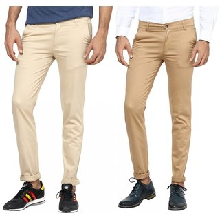 Inspire Combo Of Beige  Khaki Slim Casual Chinos