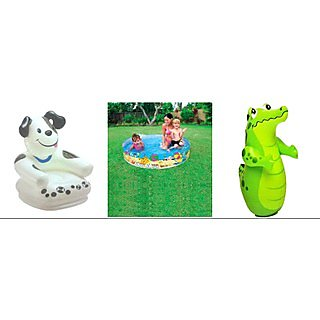 Intex Combo Pack Of Frog Chair & 3 Feet Tub & Shark