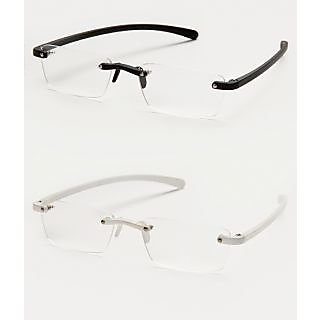 Davidson Unisex Stylish White & Black Frame