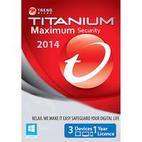 Trend Micro Titanium Maximum Security 2014 - 1 Year / 3 Pc