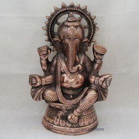Bagru Craft Decorative Ganesha Statue, Sculpture,Handicraft Antique Look Metal Figure Gift
