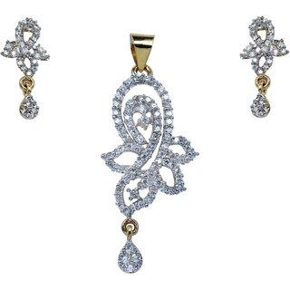 Foce pendant set with earrings