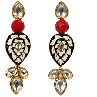 Envy Gold Plated Black & Red Drop earring