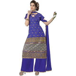 Florence Blue Sonia Georgette Embroidered Suit