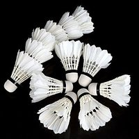 6 Pcs - Badminton Feather Shuttle Cock