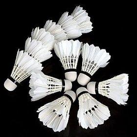 6 Pcs - Badminton Feather Shuttle Cock