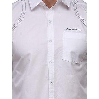 Men's White Casual Shirt