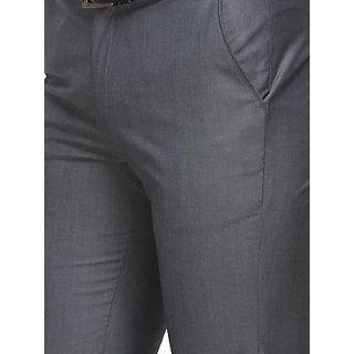 Men's Grey Formal Trouser