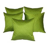 Quilting Cushion Cover Green 5 Pc Set