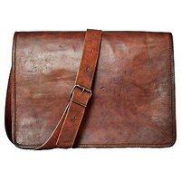 Premium Brown Vintage Leather Office Messenger Bag