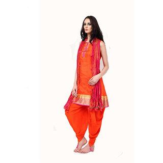 Orange Suit and Dhoti salwar
