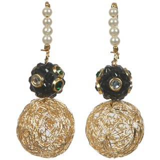 Envy Gold Plated Green Drop earring