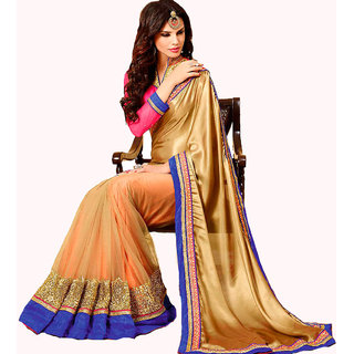 ModYellow Georgette Embroidered Saree