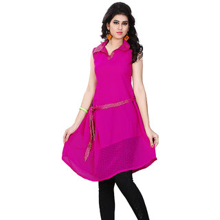 High-Class Miss & Mrs Casual Sleeveless Georgette Women's Kurti