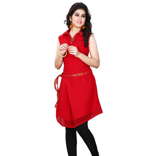 Ideal Miss & Mrs Casual Sleeveless Georgette Women's Kurti