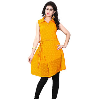In Fashion Miss & Mrs Casual Sleeveless Georgette Women's Kurti