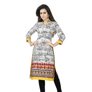 Nifty Miss & Mrs Party wear 3/4 Sleeve Printed Cotton Women's Kurti