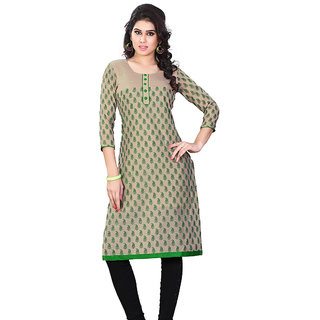 Sassy Miss & Mrs casual wear 3/4 Sleeve Printed Jacquard Women's Kurti