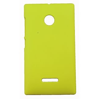 FCS Ruberrised Hard Back Case For Microsoft Lumia 532 In Matte Finish-Yellow