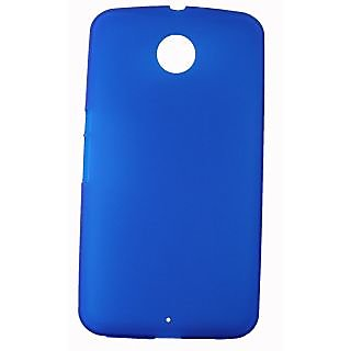 FCS Rubberised Silicon Back Case For Lg Nexus 6 In Matte Finish-Blue
