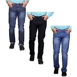 Pack of 3 Denim Blue Regular Fit Jeans