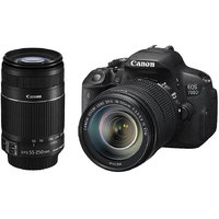 CANON DSLR EOS 700D W/18-55 Mm+55-250 Mm IS COMBO KIT-BLACK + 2 U.V. FILTER