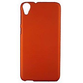FCS Rubberised Hard Back Case Cover For Htc Desire 820 In Matte Finish - Orange1