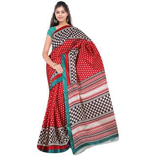 Amiable Designer Bhagalpuri Silk Sarees Multicolor