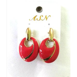 Fashion Maroon Earrings - 735
