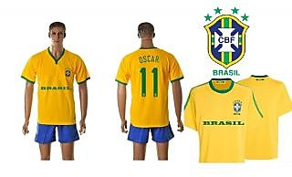 Navex Footbal Jersey Brazil Club Neon Blue Short Sleeve Ket L