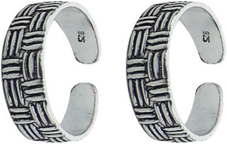 Swank YouBella  92.5 Sterling Silver Toe Ring For Women
