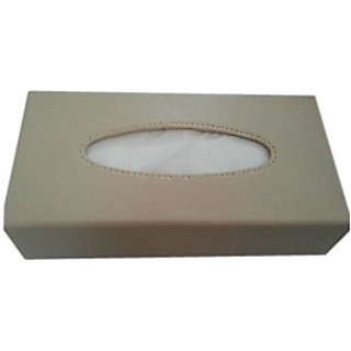 Car Tissue Box Leathrette Style Beige color- touch brand