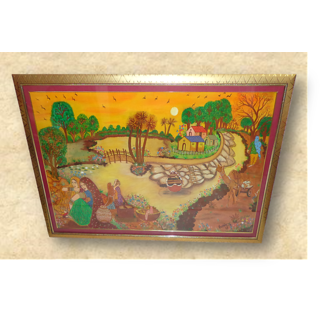 EXCLUSIVE LARGE HANDMADE WALL PAINTING