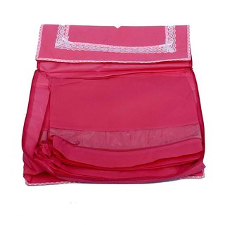 Kuber Industries Saree Cover With 10 Flaps In Heavy Non Wooven Material With Capacity Of 25 Sarees