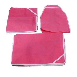 Kuber Industries Saree Cover & Blouse Cover & Peticot Cover 3 Pcs Combo