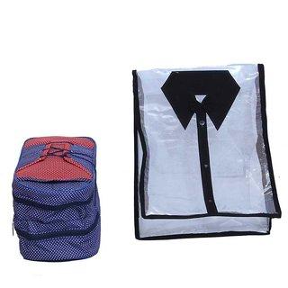 Kuber Industries Shirt Cover & Shoe Bag (2 Pcs Set)