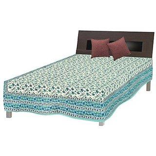 Shop Rajasthan Pure Cotton Sanganeri Print Single Bed Sheet (SRB2033)