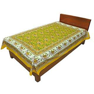 Shop Rajasthan Pure Cotton Sanganeri Print Single Bed Sheet (SRB2102)