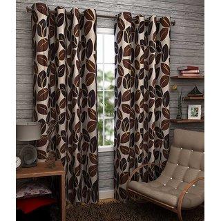Z Decor Polyester Set of 2 Door Curtain 7 feet (ECTD-00011)