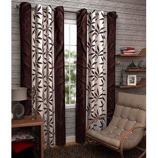 Z Decor Polyester Set of 2 Door Curtain 7 feet (ECTD-0009)