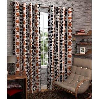 Z Decor Polyester Set of 2 Door Curtain 7 feet (ECTD-00014)