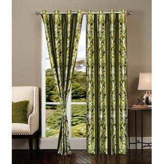 Z Decor Polyester Set of 2 Door Curtain 7 feet (ECTD-00018)