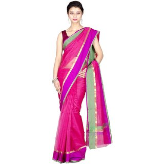 Chandrakala Pure Banarasi Weaves Cotton Supernet Saree