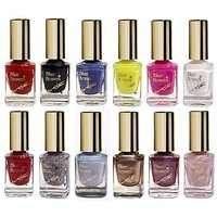 Blue Heaven Combo Of 12 Xpression Nail Paint (901, 902, 908, 919, 923, 945, 963, 986, 996, 997, 998  999) 9 Ml Each