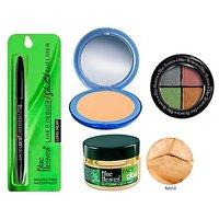 Blue Heaven Silk Compact (N) + 4X1 E/M E/S 601 + Face Glow  Sketch Eyeliner