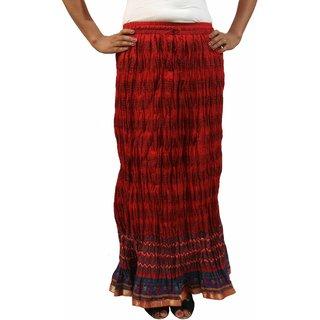 Saffron Craft Printed Cotton Skirt