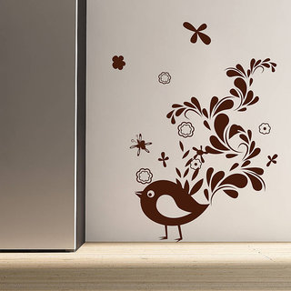 Decor Kafe Creative Sparrow Wall Sticker (27x36 Inch)