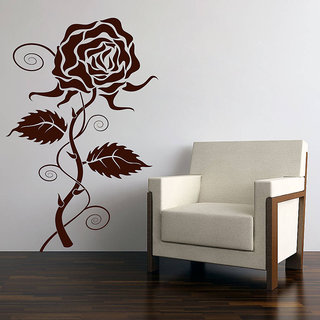 Decor Kafe Rose Wall Sticker (12x19 Inch)